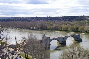 The famous Pont d'Avignon now goes nowhere--a victim of time.