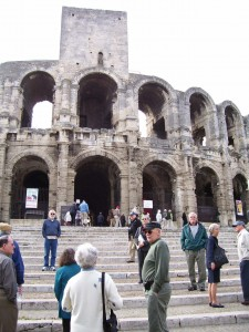 Arles' 2000 year-old Roman Stadium is still used.