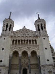 The magnificent Fourviere Basilica stands on Lyon's highest point.