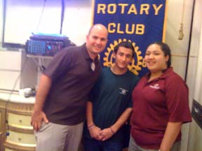 Tim Motts (Executive Director or the West San Gabriel Boys and Girls Club), Anthony Salcido (Youth of the Year) and Staff member Jasmine Diaz. Jasmine and Anthony gave the presentation with Tim filling in a few points to Monterey Park Rotary.