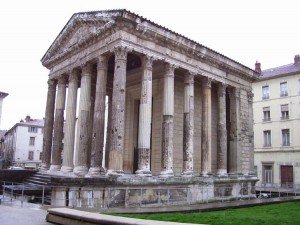 The Temple of Augustus and Livea (20 B.C.) stands today in the center of Vienne