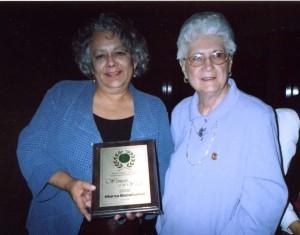 """Woman of Achievement"" Marta Escañuelas MERCI Executive Director Kathryn ""Kitty"" Bates, President of East Los Angeles – Montebello BPW"