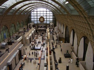 The day before we had enjoyed the paintings at the Musee d'Orsay, formerly a railroad station.