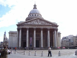 We walk past the Pantheon where France's greatest are buried.