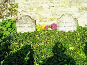 The graves of Vincent Van Gogh and his brother Theo-only a short distance from where he composed his last painting.
