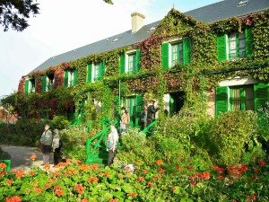 Claude Monet's ivy-covered house in Giverny