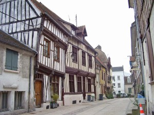 The town of Vernon still retains some of its 17th century half-timbered houses.