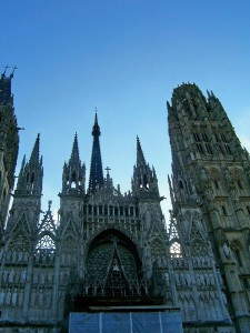 The flambouyant Rouen Cathedral was painted many times by Claude Monet.
