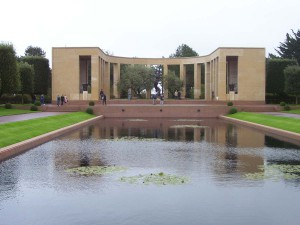 An overview of the American Cemetery in Normandy.