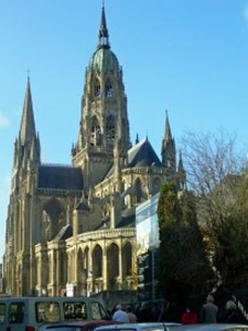 Church at Bayeux, the city first liberated by American troops.