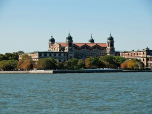We pass Ellis Island where thousands of immigrants reached our shores.
