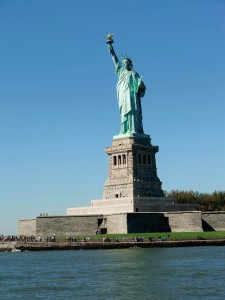 he Statue of Liberty still greets us