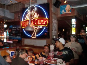 Bubba Gump's in the heart of Manhattan serves excellent shrimp.