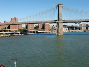 From the end of Pier 17 we have a nice view of the Brooklyn Bridge.