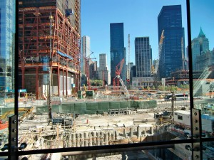 The devastation of Ground Zero as seen from the Winter Gardens