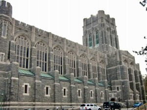 The chapel at West Point resembles a fortress.