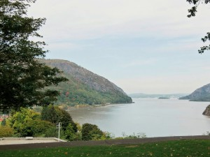 The grounds of West Point afford magnificent views of the Hudson River.