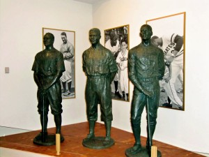 Lou Gehrig, Jackie Robinson and Roberto Clemente greet us at the Baseball Hall of Fame.