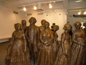 In the Women's Rights Museum in Seneca Falls stand the giants of the Women's Movement.