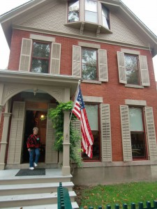 We visited the home of Susan B. Anthony in Buffalo, New York.