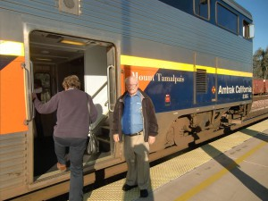 After a bus ride from Los Angeles Union Station we board our Amtrak San Joaquin at Bakersfield.