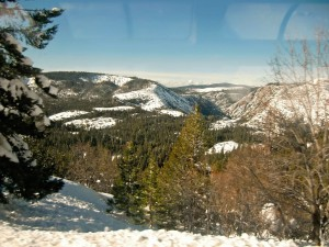 From our observation car window we see spectacular mountain vistas on all sides.