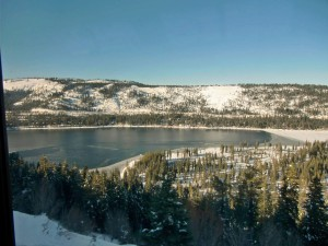 We pass Donner Lake, named to memorialize the Donner Party who nearly perished here.