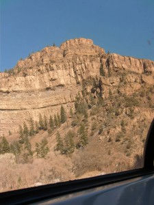 We are about to wind through the towering cliffs of Colorado's magnificent Glenwood Canyon.