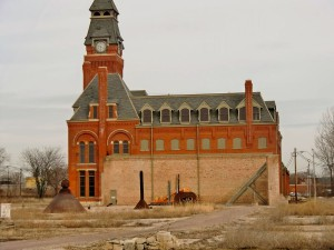 The factory and clock tower where hundreds of Pullman railway cars were built remain.