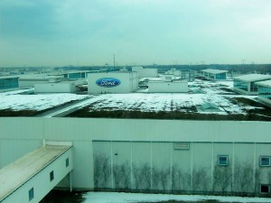 From a rooftop we view the expanse of the Rouge Ford Plant.