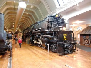 We are amazed at the size of this Allegheny locomotive once used to haul coal.