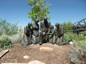 The Mormon Pioneers are remembered at Heritage Park.
