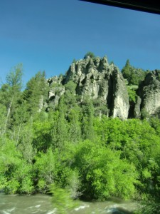 We wind up through beautiful Logan Canyon.