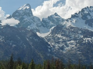 We get a closer look at these sharp peaks still laced with snow.
