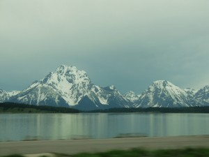 This is our final look at the Grand Tetons as the sky darkens into a thunderstorm.