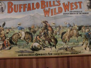 One of the flamboyant advertisements for the Buffalo Bill Wild West Show has been preserved.
