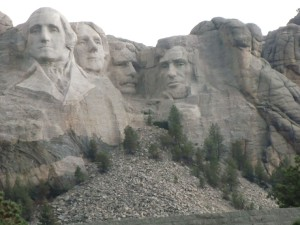 We finally reach Mt. Rushmore and our four great presidents in the last light of day.