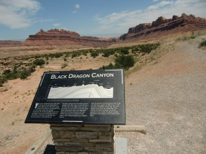 Black Dragon Canyon is a chaotic display of tilted rocks.