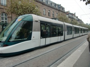 The bullet shaped trams in Strasbourg are the most modern ones we had seen. They give a very smooth ride.