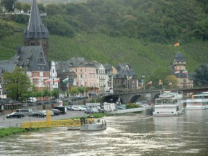 Berncastle is a small town tucked between the river and sloping vineyards.