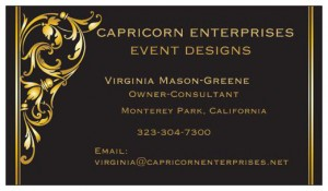 Official Capricorn business card
