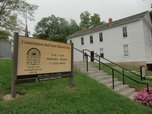 The original Constitution Hall still stands in Lecompton, Kansas, the site of the battle for the future of the state. Would it be a slave state or a free state?