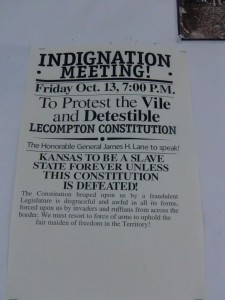 Notice about abolishing the first constitution and designing a new one in which Kansas would be a free state.