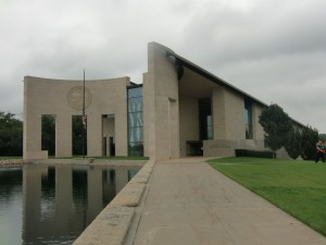 The Dole Institute from the outside. It is located on the campus of the University of Kansas.