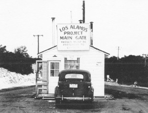 Main gate at Los Alamos Project