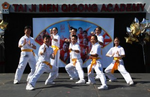 Tai Ji Men Chuan (Chinese boxing) Formation displays teamwork, courage, and confidence.