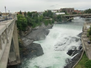 The highlight of Spokane was the sight of Spokane Falls close to the center of the city.