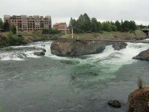 Pictured here are the upper falls, which then lead to the lower ones.