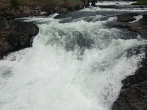 A person can be immersed in the roar and the energetic beauty of the lower falls.