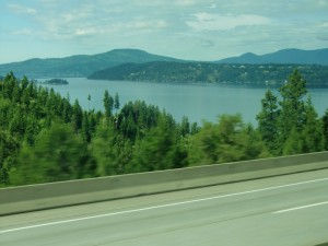 Our last look at Lake Coeur d'Alene before we turn north
